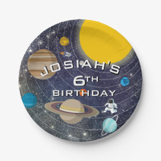 Solar System Birthday Party Paper Plate