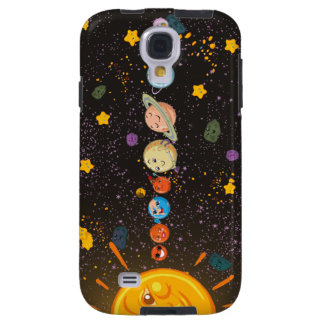 Solar System Funny Planets Samsung Galaxy S4 Case