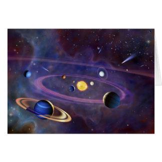 Solar System Greeting Cards
