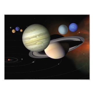 Solar System Illustration Space Art Art Photo