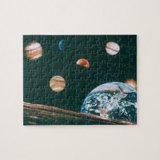 Solar system jigsaw puzzle