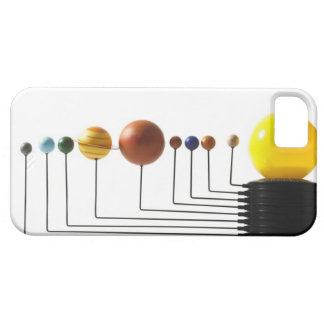 Solar system model on white background 3 iPhone 5 case
