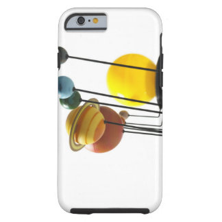Solar system model on white background 4 tough iPhone 6 case