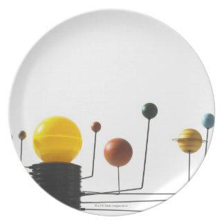 Solar system model on white background 5 plate