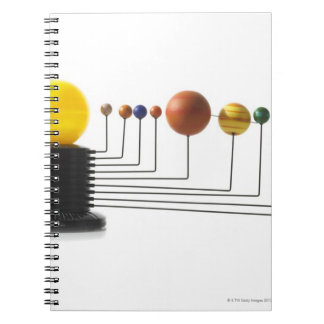 Solar system model on white background 6 notebook