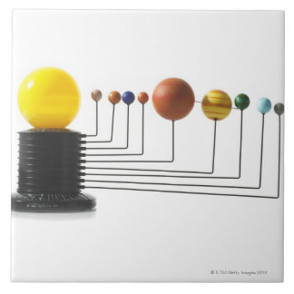 Solar system model on white background 6 tile