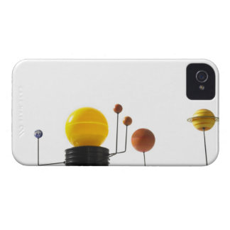 Solar system model on white background iPhone 4 Case-Mate case