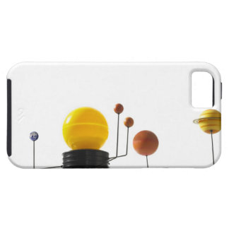 Solar system model on white background tough iPhone 5 case