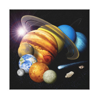 Solar System Montage Canvas Print