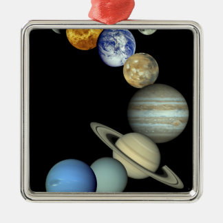 Solar System Montage Christmas Ornament