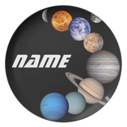 Solar System Montage JPL Photos - Customise Name Plate