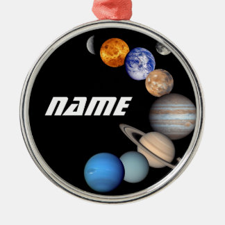 Solar System Montage JPL Photos - Customize Name Christmas Ornament