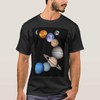 Solar System Montage JPL Planet Photos T-Shirt