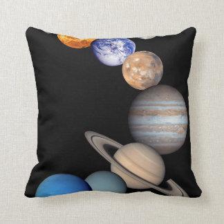 Solar System Montage JPL Planet Photos Throw Pillow