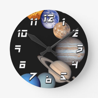 Solar System Montage JPL Planet Photos Wallclock