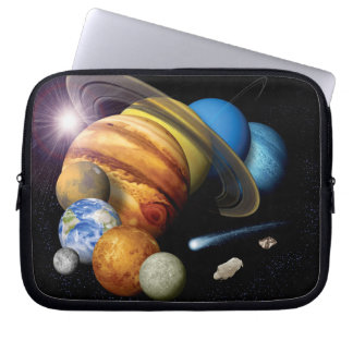 Solar System Montage Laptop Sleeves
