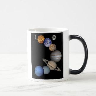 Solar System Montage Morphing Mug