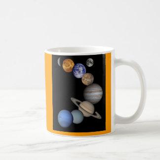 Solar System Montage Basic White Mug