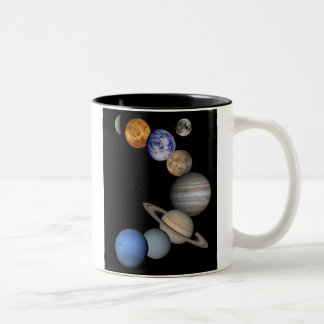 Solar System Montage Two-Tone Mug