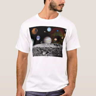 Solar System Montage of Voyager Images T-Shirt