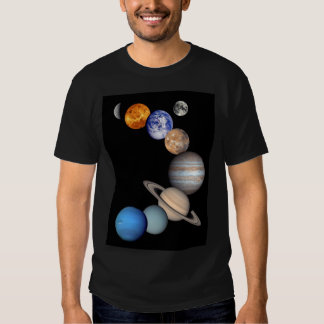 Solar System Montage Planetary Images T-shirts