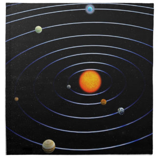 Solar System Napkins