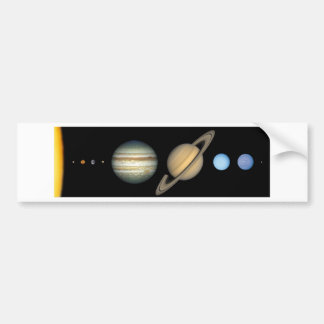 Solar system on the scale - Solar System scale Bumper Sticker