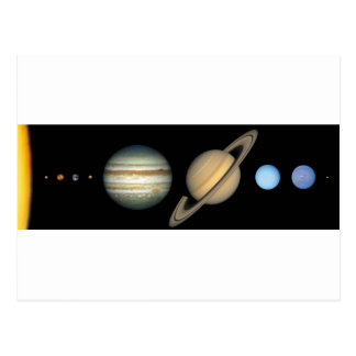 Solar system on the scale - Solar System scale Postcard