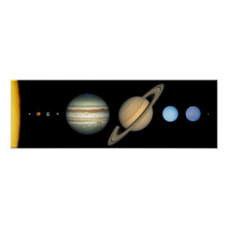 Solar system on the scale - Solar System scale Poster