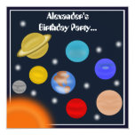 Solar System Outer Space Birthday Party 13 Cm X 13 Cm Square Invitation Card
