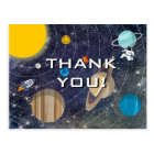 Solar System Party Thank You Postcard