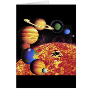 Solar System Planets Card