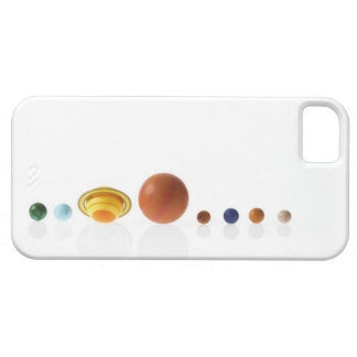 Solar system planets on white background 2 barely there iPhone 5 case