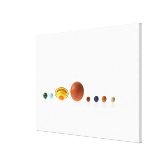 Solar system planets on white background 2 canvas print