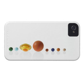 Solar system planets on white background 2 iPhone 4 Case-Mate cases