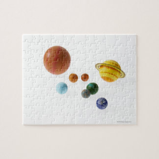 Solar system planets on white background jigsaw puzzle
