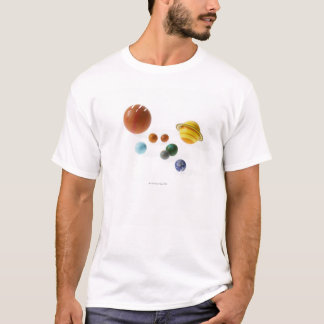 Solar system planets on white background T-Shirt