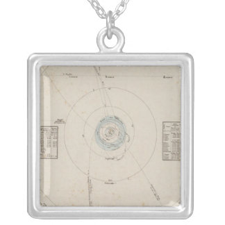 Solar system Planets Silver Plated Necklace