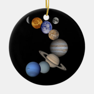 solar system planets universe christmas ornament