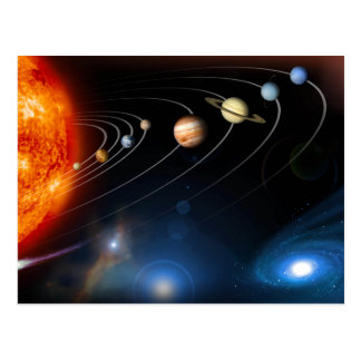 """Solar System"" Postcard"