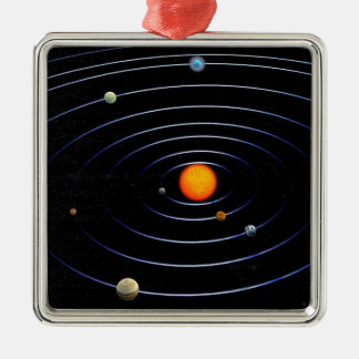 Solar System Square Ornament