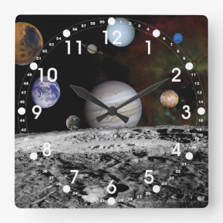 Solar System Square Wall Clock