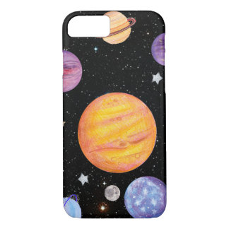 Solar System Sun Planets Astronomy Space Meme iPhone 7 Case