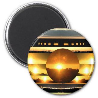 SOLAR SYSTEM:   SUN SET: Golden Healing Energy Magnets
