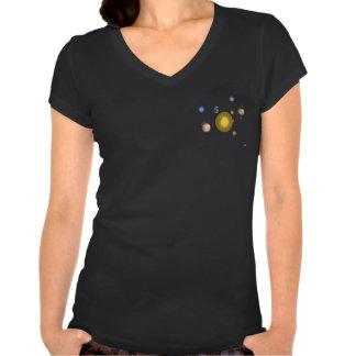 Solar System T001W Black Tee Shirts