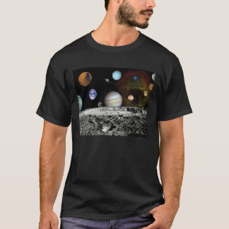 Solar System Voyager Images Montage Space Photos T-Shirt