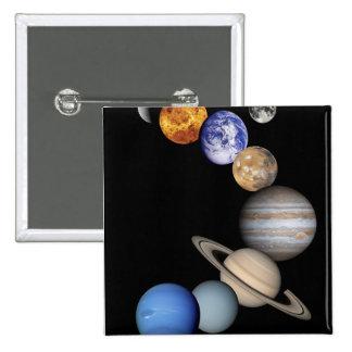 Solar Sytem Montage 15 Cm Square Badge