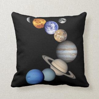 Solar Sytem Montage Throw Pillow