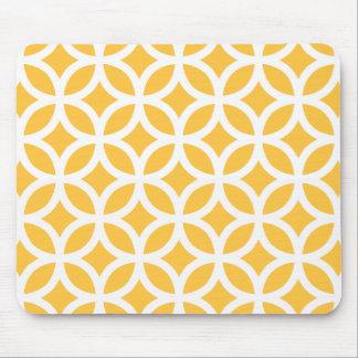 Solar Yellow Geometric Mouse Mat