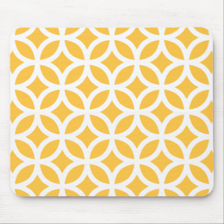 Solar Yellow Geometric Mouse Pad